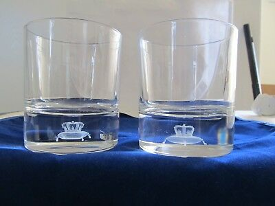 CROWN ROYAL 3D Laser Etched Rock Glasses Set of 2 New