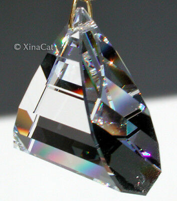 Huge 8950-2011-50mm SWAROVSKI Flame Triangle Austrian Crystal Clear Prism 2""