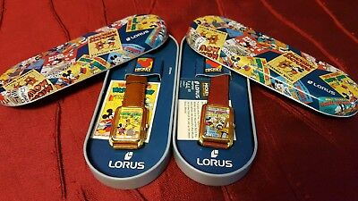 2 Lorus Mickey Mouse Watch New in Box Mickey's Circus & Building a Building