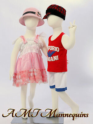 Two same child Mannequins,for X'mas display abt 3 years old,flexible manikins-R4