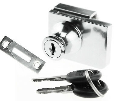 Glass Cabinet Hinged Display Cabinet Lock Chrome Steel For Ikea Argos Detolf Set