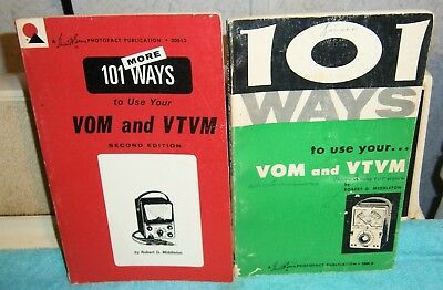 2 Sams book 101 WAYS + 101 MORE WAYS TO USE YOUR VOM AND VTVM Robert G Middleton