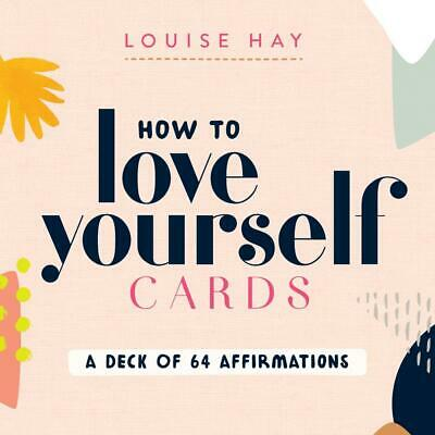 How to Love Yourself Cards: A Deck of 64 Affirmations by Louise Hay Free Shippin