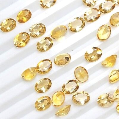 Wholesale Lot of 8x6mm Oval Facet Cut Natural Citrine Loose Calibrated Gemstone