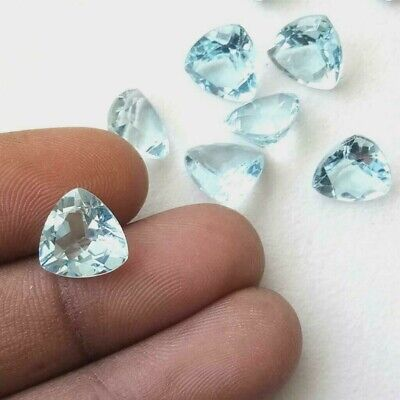 Wholesale Lot of 5mm Trillion Cut Natural Blue Topaz Loose Calibrated Gemstone