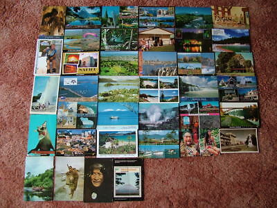 38 Postcards of NEW ZEALAND.  1970's onwards. Used and Unused.