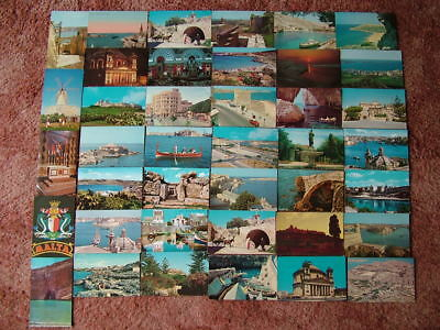 40 Postcards of MALTA & GOZO. Good condition. Mainly unused. Standard Size.
