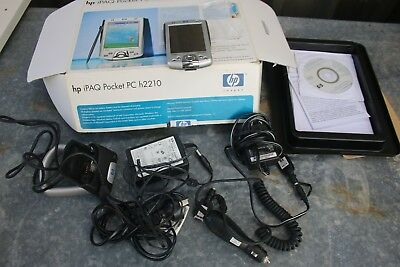 HP IPAQ Pocket PC h2210 Bundle Accessories Boxed Works fine Bluetooth 64MB