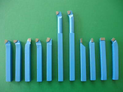 "11Pce-10mm (3/8"") Carbide Tipped Metal Lathe Tool Set"