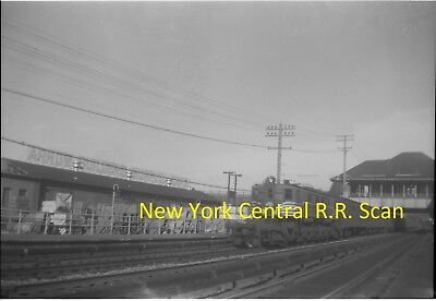 New York Central Railroad (Nyc) Original B&w Negative Engine University Hts 1961