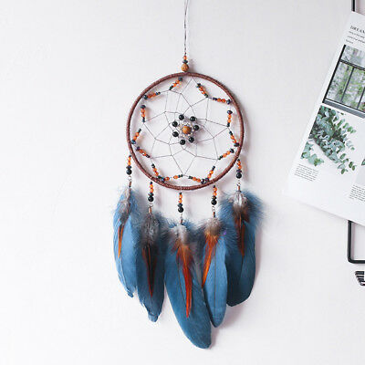 Lucky Feather Bead Dream Catcher Net Wall Hanging Home Car Decor Ornament Modish