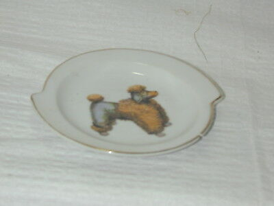 Made in Japan Poodle on white dish