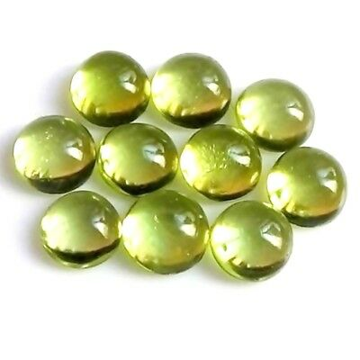 Wholesale Lot 4mm Round Cabochon Cut Natural Peridot Loose Calibrated Gemstone