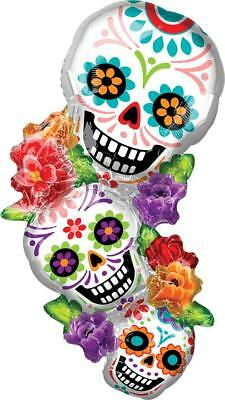 38 Inch Halloween Day of the Dead Stacking Sugar Skulls Balloon FREE SHIPPING