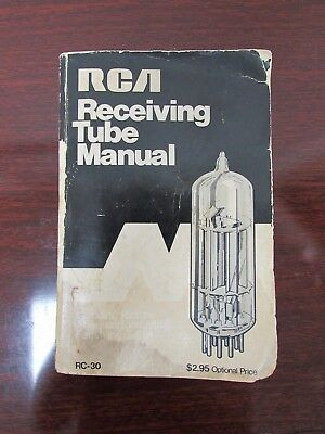 Original 1973 Rca Receiving Tube Manual Rc-30 Guc (Bjr8038)