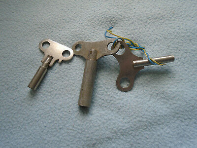 Vintage Set Of Three Clock Winding Keys
