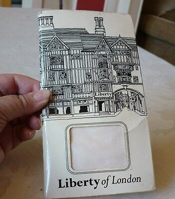 Vintage Liberty of London Ivory silk square scarf (packaged)