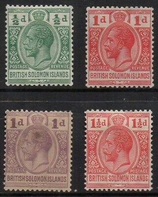 British Solomon Ils., 1923, set of 4 to 1½d., l.m.mint.