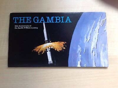 Gambia 1979 10th Anniversary of the Apollo 11 Moon Landing Booklet