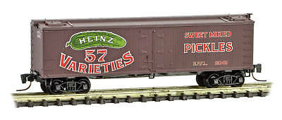 Micro-Trains MTL Z-Scale Heinz Series Car #10 - 36ft Wood Reefer Pickles #2042
