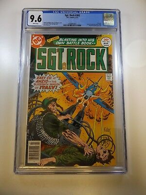 Sgt. Rock #302 1st issue of title CGC 9.6 White Pages