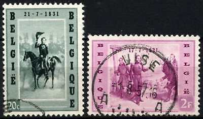 Belgium 1957 SG#1612-3 Arrival Of King Leopold Used Set #D74732
