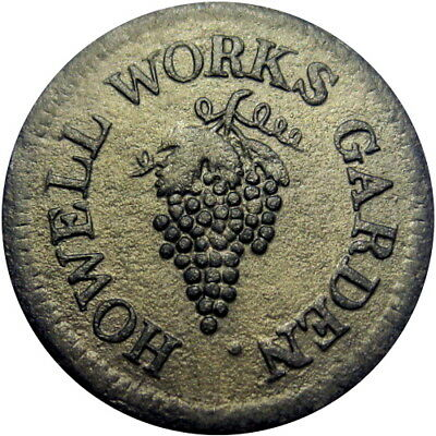 1834 Allaire New Jersey Hard Times Token Howell Works Garden Grapes R4