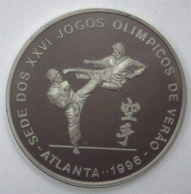 St Thomas & Prince Nd(1993) 1000 Dobras -Olympic Karate- Near Perfect Pf Dcam