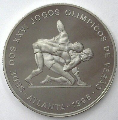St Thomas & Prince Nd(1993) 1000 Dobras -Olympic Wrestling- Near Perfect Pf Dcam