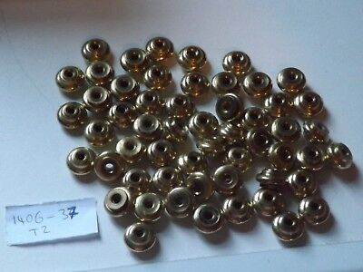 Large Lot Of Vintage Solid Brass Feet / Pads / Parts For A Clockmaker