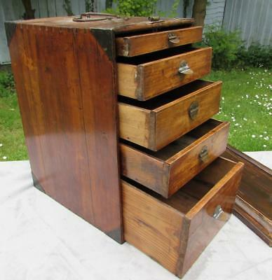 Rare Antique Chinese 18th / 19thC Chinese Hardwood Medicine Chest