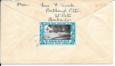 Barbados 1941 Dutch Censored Cover With Tied Label.