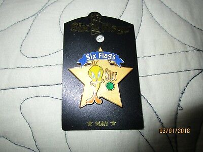 Six Flags Tweety Pin May Birthstone NEW Gift item
