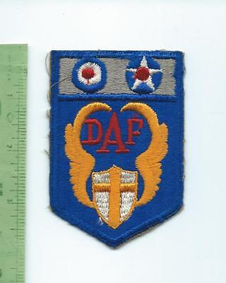WWII US DAF Desert Air Force patch  fully embroidered