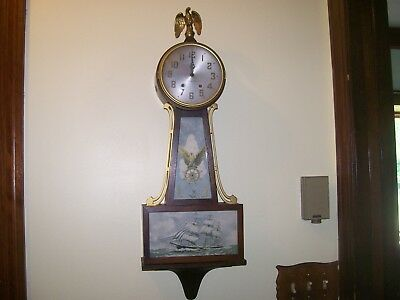 Vintage Nautical wall clock  Plymouth key wind for restoration