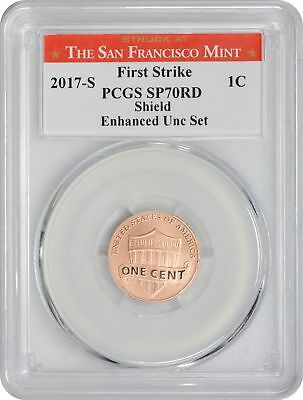 2017-S Enhanced Uncirculated Set Lincoln Cent SP70RD PCGS First Strike San Fran