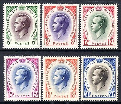 (157) Monaco Prince Rainier III Stamps Issued in 1955 (SG518-22 & SG525) LM/Mint