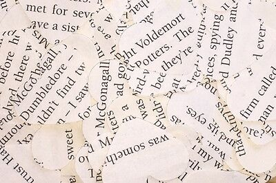Heart Wedding Table Confetti/Decoration - Harry Potter Book/Rustic/Vintage Chic
