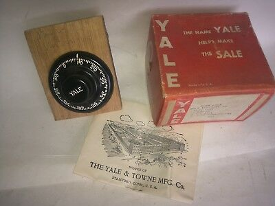 Antique Vintage Yale Combination Safe Cabinet Lock NOS Small