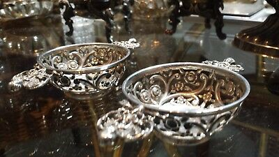 90g STERLING SILVER SET OF 2 COLLECTION VIRTU CENTERS LONDON WILLIAM COMYNS