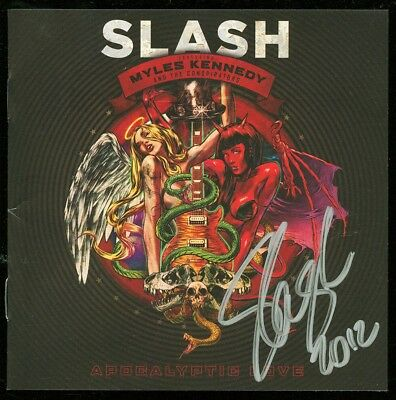 SLASH Apocalyptic Love 2012 Autographed Signed CD GUNS N' ROSES