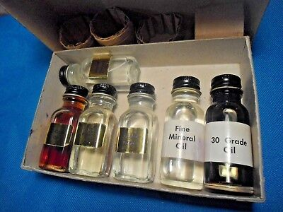 Stenotype Cleaning Kit ~ 6 Bottles Of Oils  And Alcohol