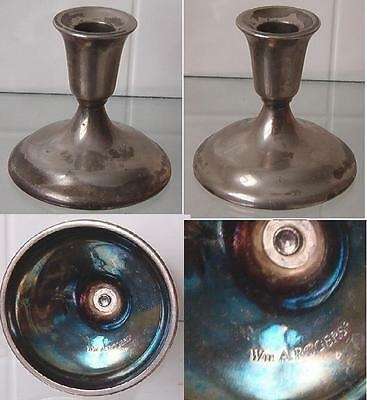 One Vintage Candle Holder WM A Rogers Silverplate