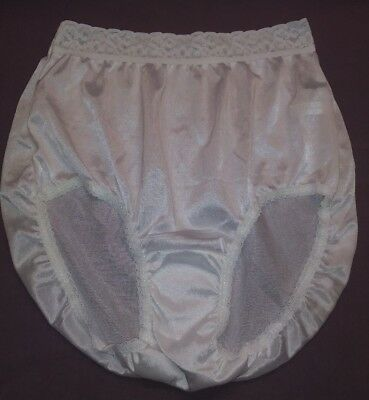 "Nwot Sheer Nylon Panties Intimates 1"" Lace Waistband Size 6 White"