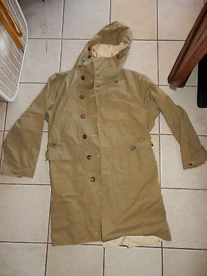 Original Wwii Us Army Overcoat, Parka Type, Reversible To Snow Camouflage