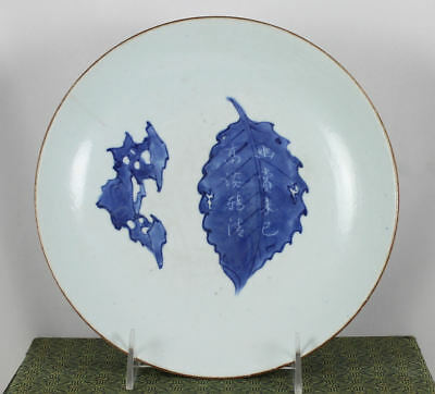 Fine Antique Chinese Blue & White Porcelain Plate / Dish , Possibly Kangxi