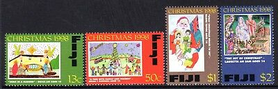 1998 FIJI CHRISTMAS CHILDRENS PAINTINGS SG1036-1039 mint unhinged