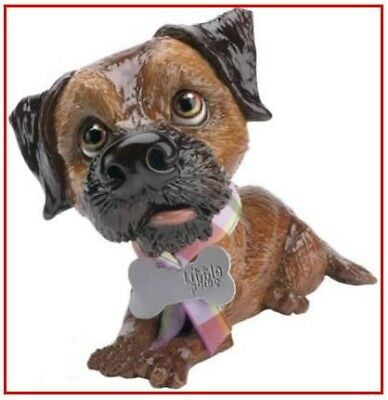 Little Paws Terri Border Terrier Dog Breed Figurine Arora UK Tag NIB