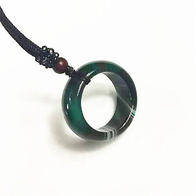 NEW Natural Charming Jade ring Lucky Pendant Chinese jade carving necklace