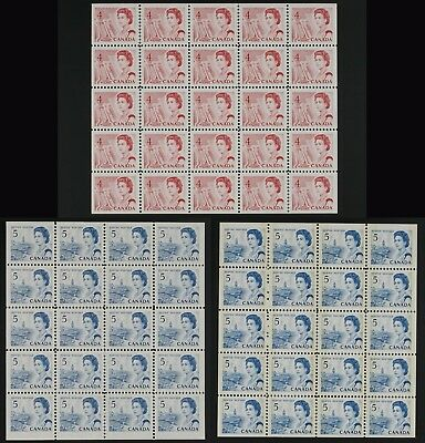 Centennials panes 457b,458b,458bp tagged. Lot of 3 panes VF MNH FRESH! cv$147.50